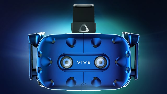 Mockup of HTC's newest creation, the Vive Pro virtual reality headset debuted at CES 2018.